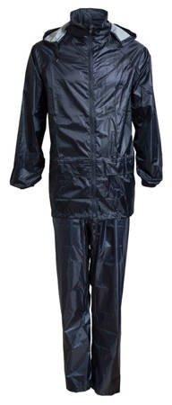 Bagażowy zestaw przeciwdeszczowy kurtka + spodnie rozmiar 2XL granatowy