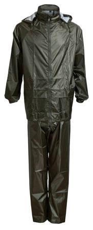 Bagażowy zestaw przeciwdeszczowy kurtka + spodnie rozmiar M granatowy