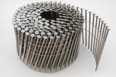 Gwoździe bębnowe na drucie 2,1 kąt 16° ryflowane galwanizowane długość50mm