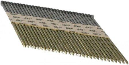 Gwoździe taśmowe łączone papierem 34°/ ø 3,3 100mm ryflowane galwanizowane