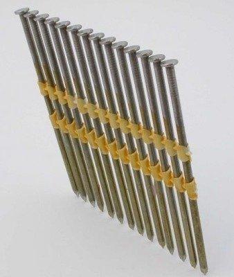 Gwoździe taśmowe łączone plastikiem 21°  3,4/100mm/gładkie/czarne