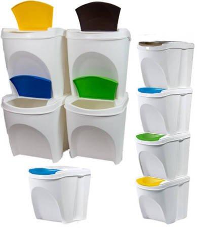 Kosz na śmieci 4x25L do segregacji SORTIBOX biały